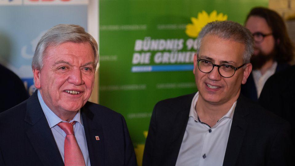 Koalitionsvertrag von CDUund Grüne in Hessen steht.